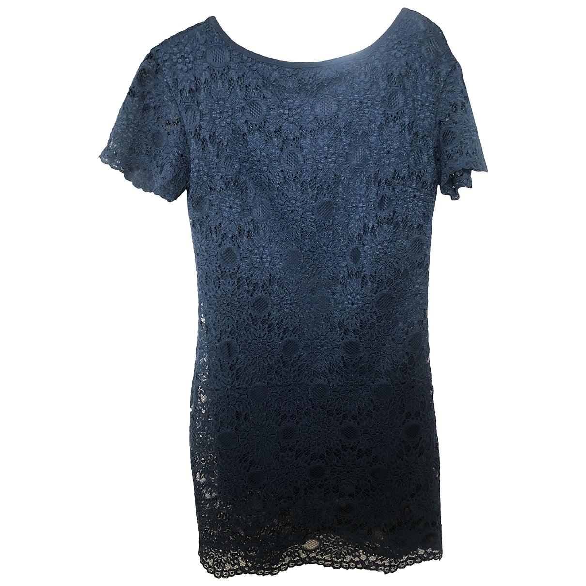 Trussardi Jean - Robe   pour femme en dentelle - bleu