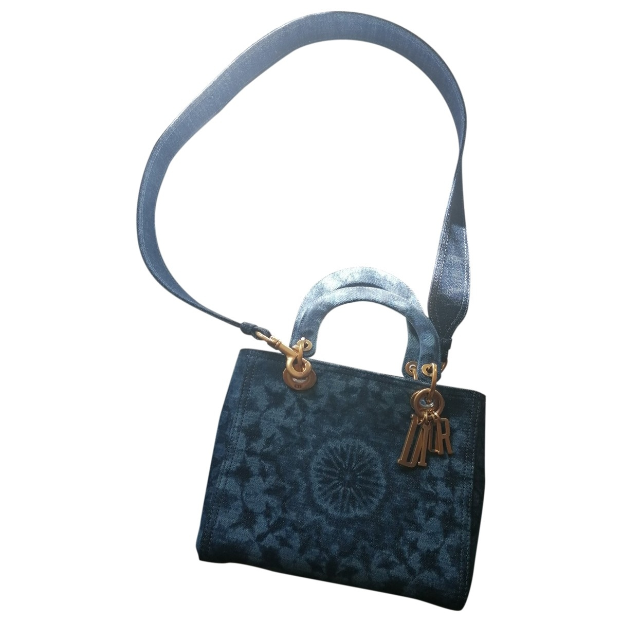 Dior Lady Dior Blue Denim - Jeans handbag for Women \N