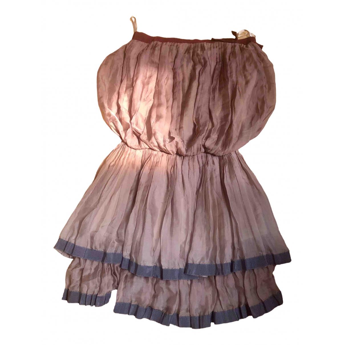 Patrizia Pepe \N Kleid in  Rosa Seide