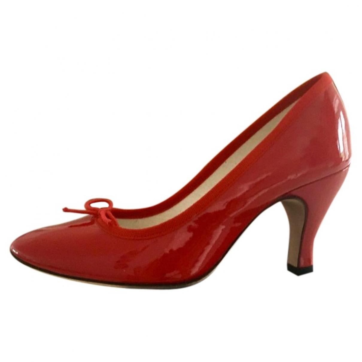 Repetto - Escarpins   pour femme en cuir verni - rouge
