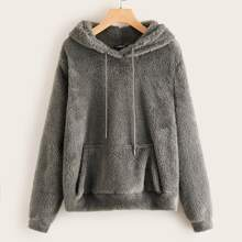 Pouch Pocket Teddy Hoodie