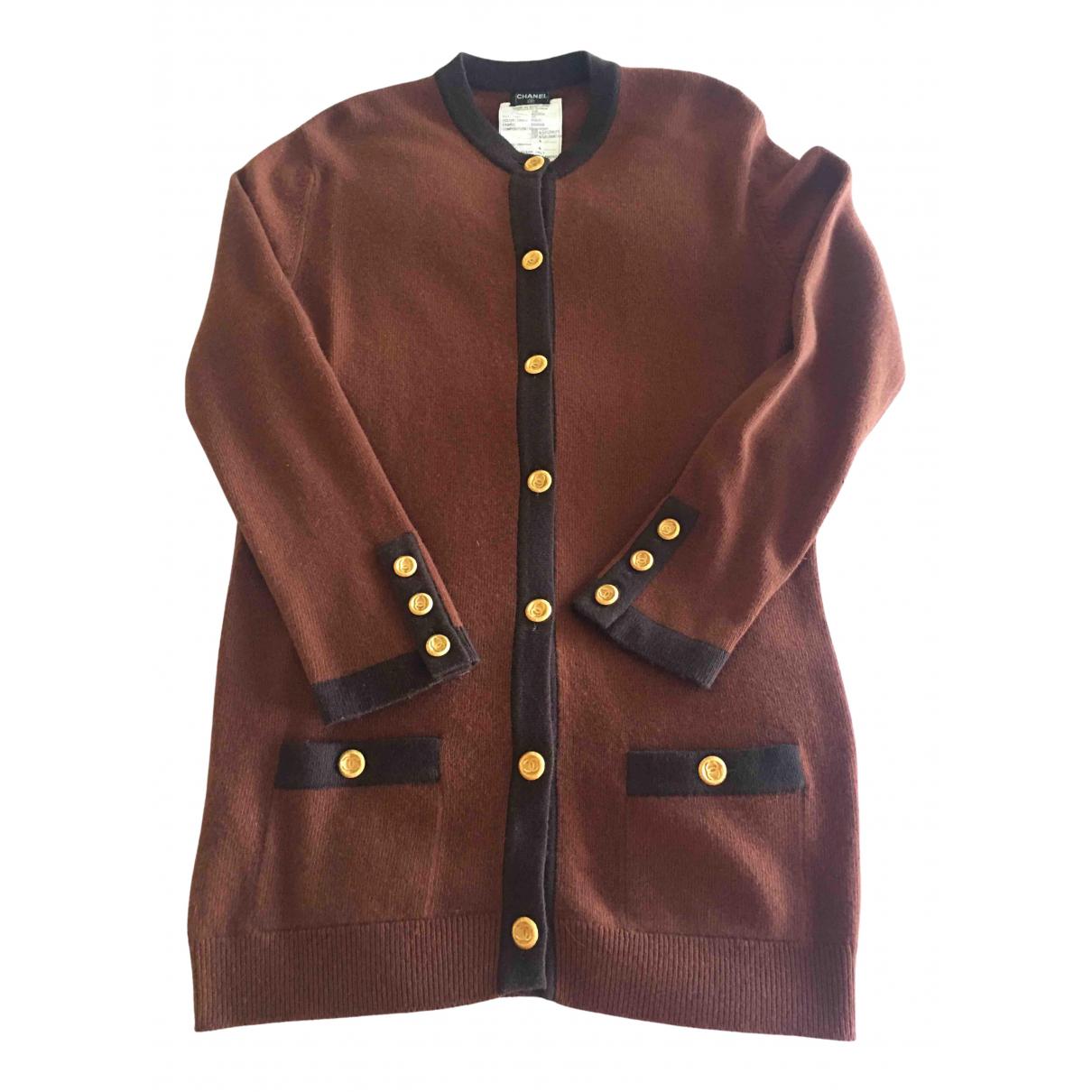 Chanel - Pull   pour femme en cachemire - marron
