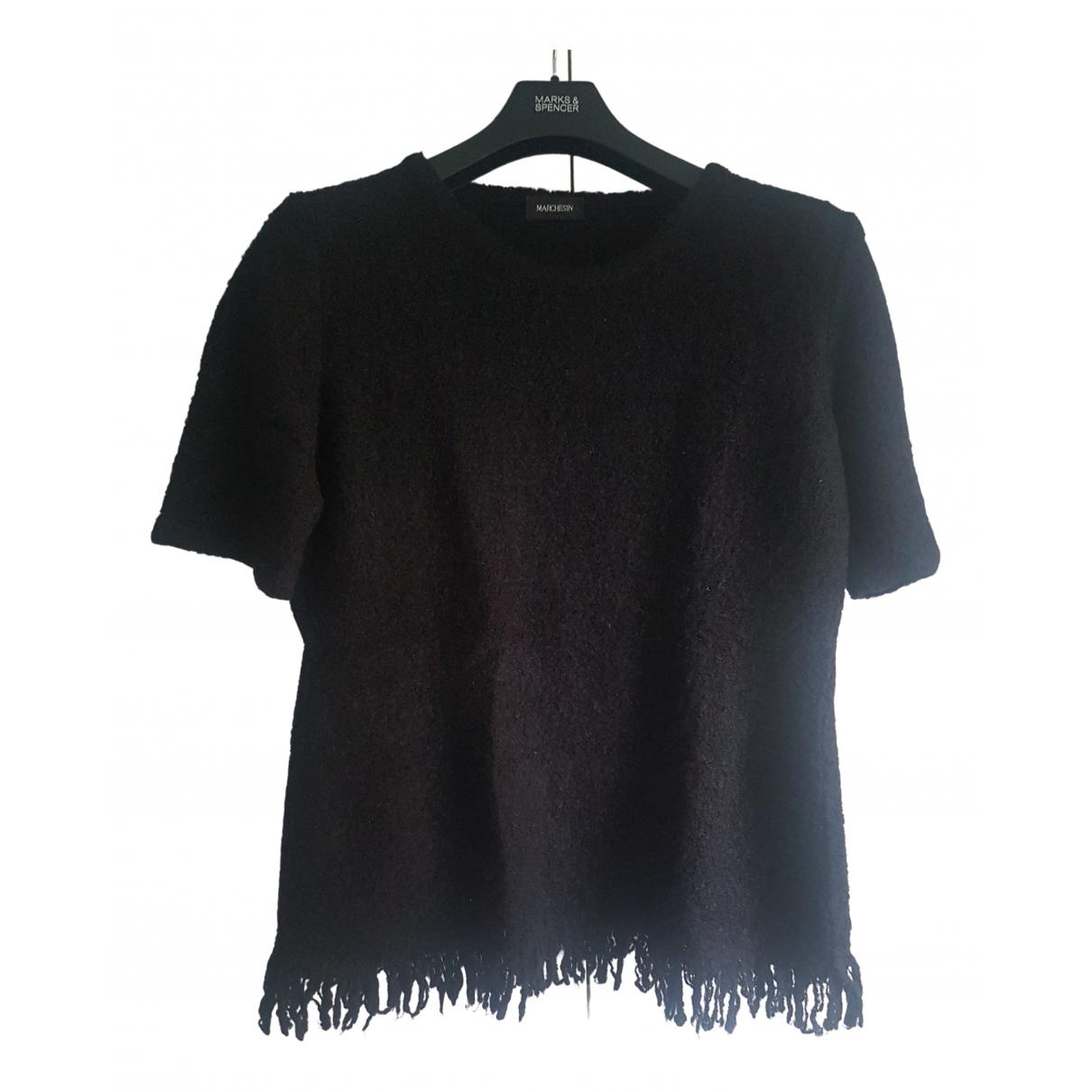 - Top   pour femme en laine - noir