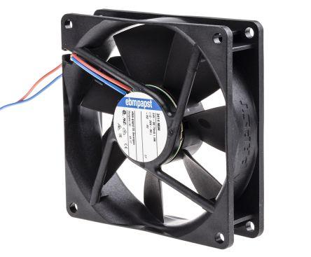 ebm-papst , 24 V dc, DC Axial Fan, 92 x 92 x 25mm, 72m³/h, 1.8W