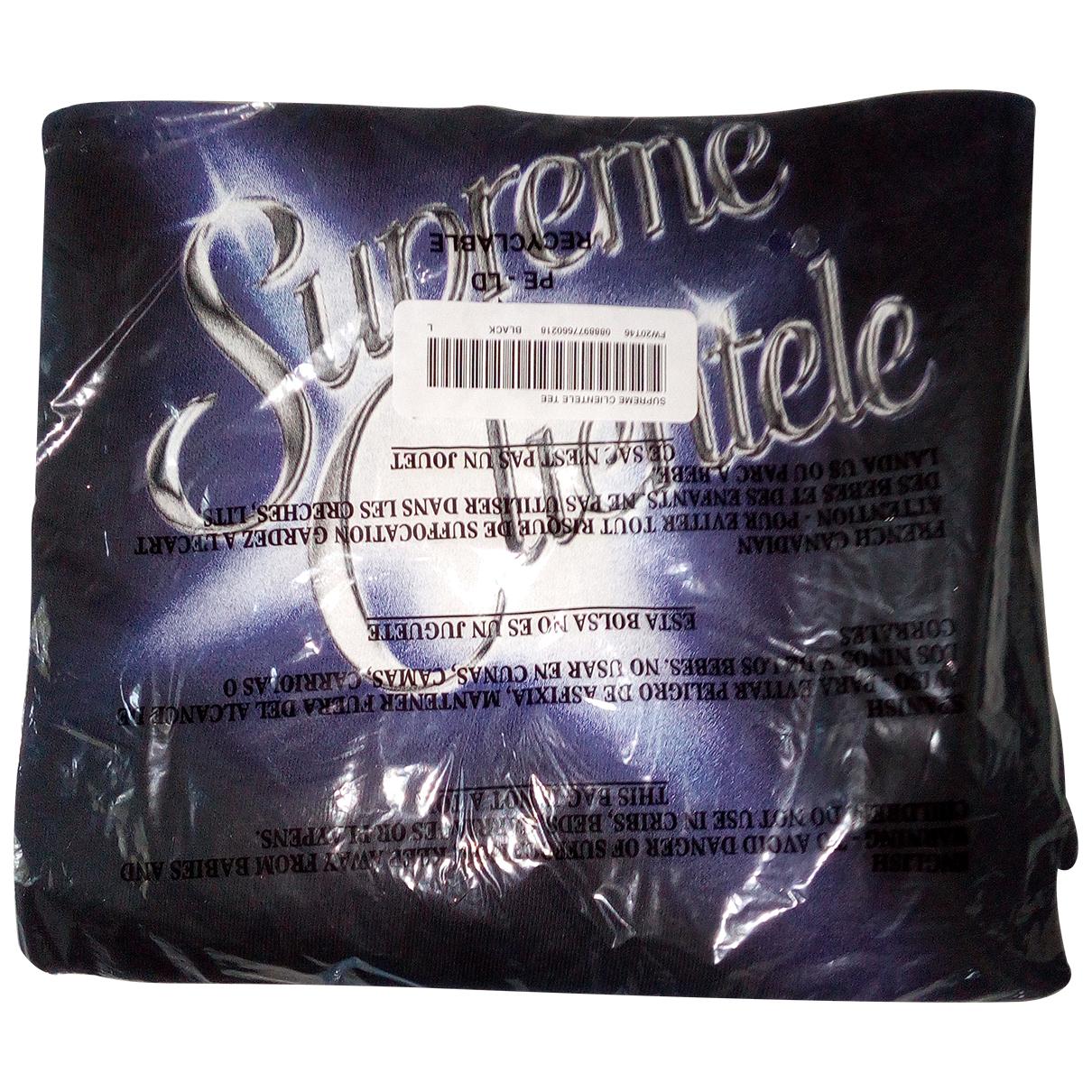Supreme N Black Cotton T-shirts for Men L International
