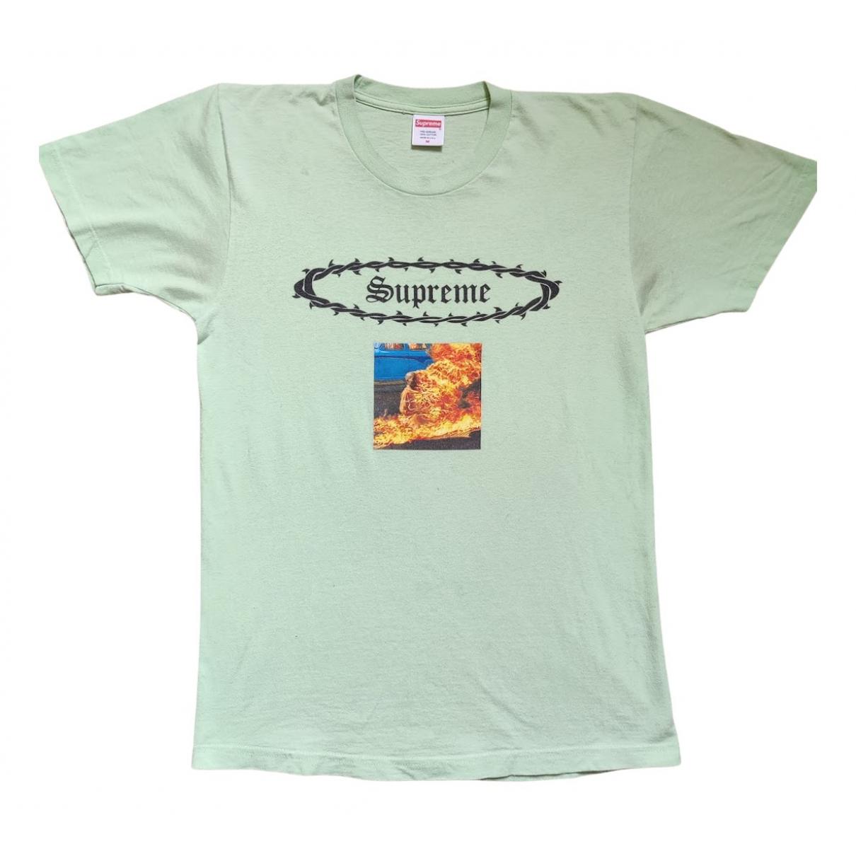 Supreme - Tee shirts   pour homme en coton - vert