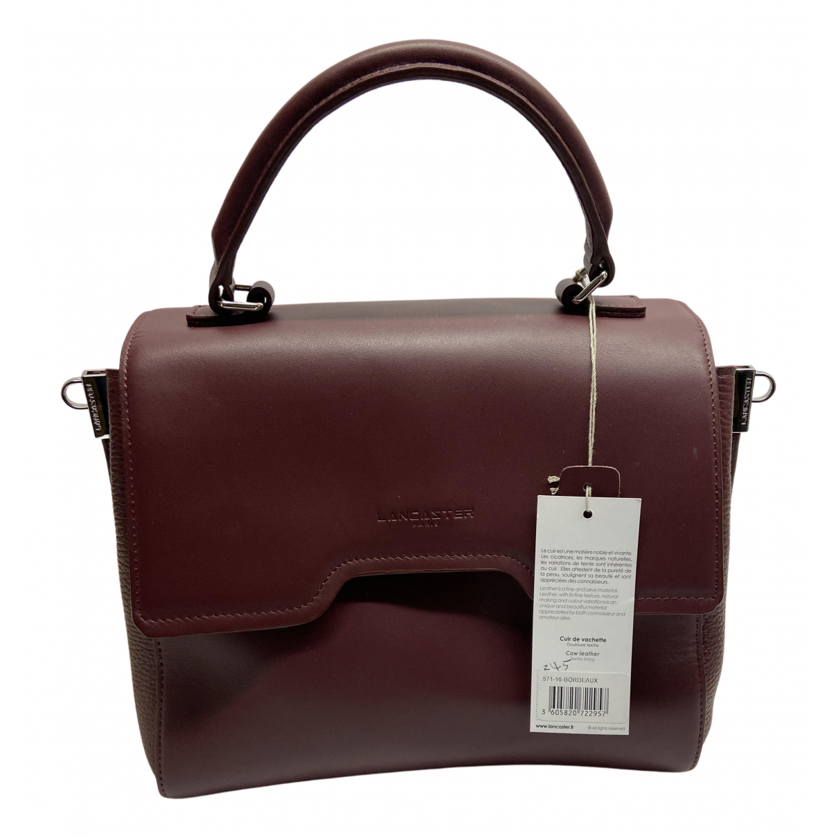 Lancaster N Burgundy Leather handbag for Women N