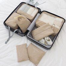 7pcs Slogan Graphic Travel Storage Bag
