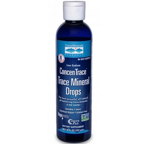 ConcenTrace Trace Mineral Drops Glass 4 oz by Trace Minerals