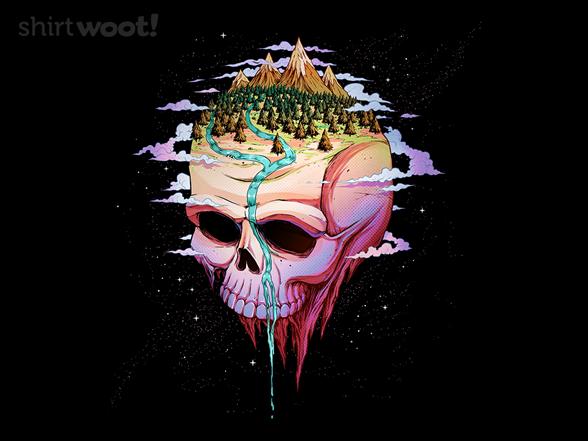 Planet Skull T Shirt