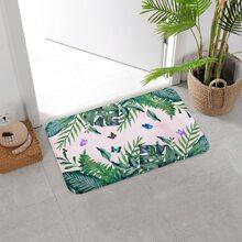Butterfly Print Floor Mat