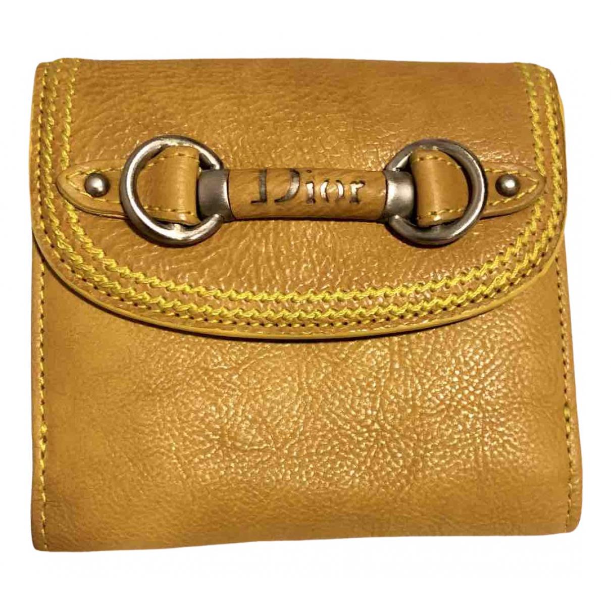 Dior \N Portemonnaie in  Gelb Leder