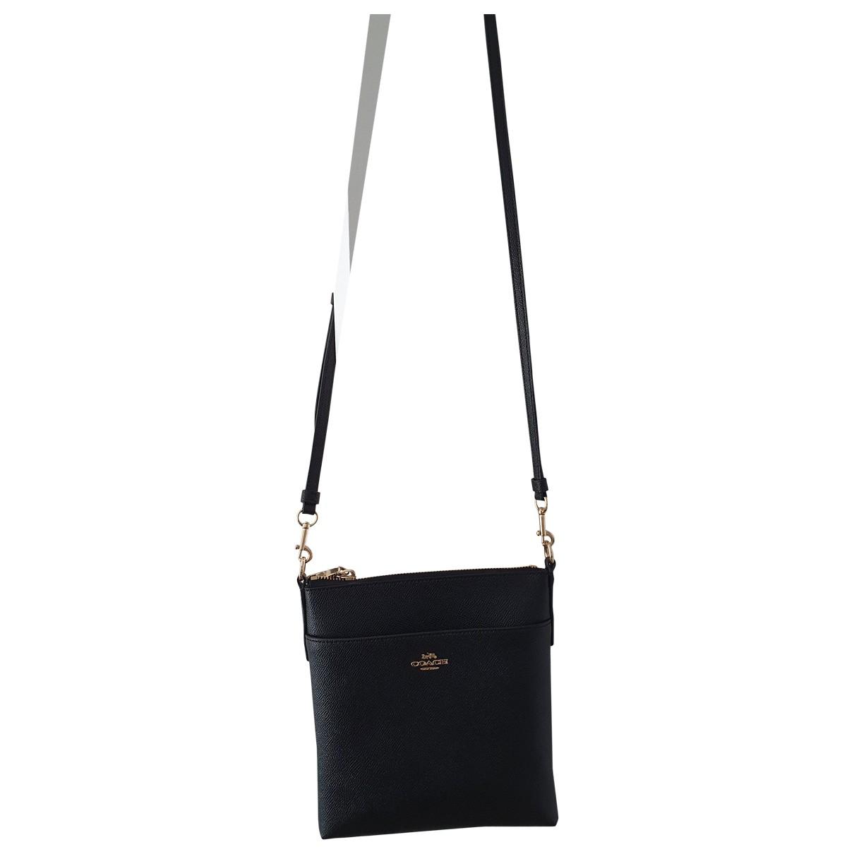 Coach N Black Leather handbag for Women N