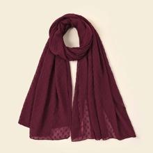 Flaumiger Schal mit Punkten Muster