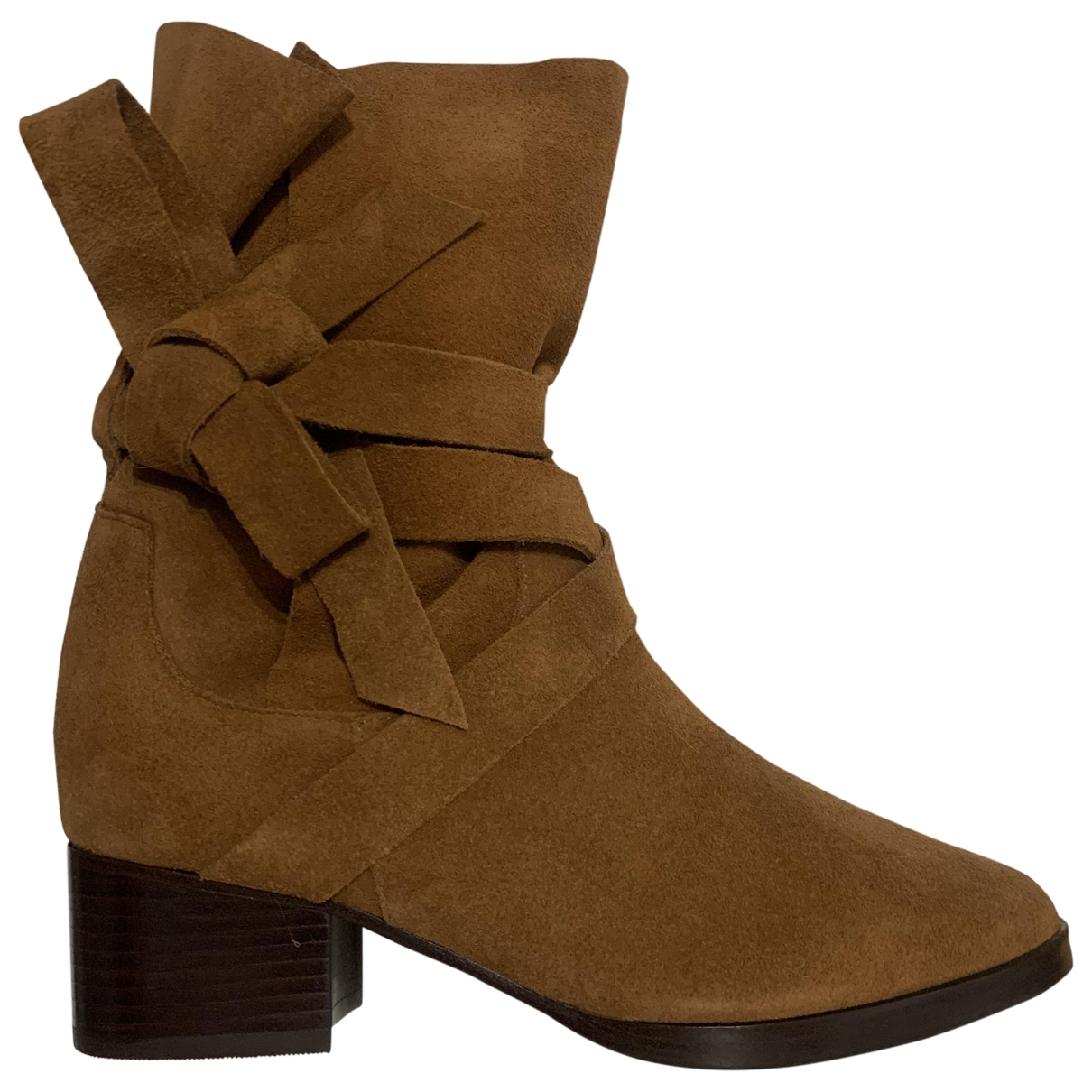 Schutz \N Camel Suede Ankle boots for Women 36 EU