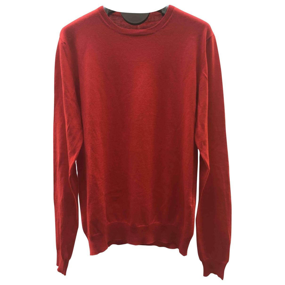 Prada \N Pullover.Westen.Sweatshirts  in  Rot Baumwolle