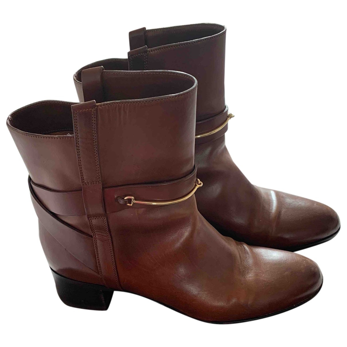 Sartore \N Brown Leather Ankle boots for Women 39.5 EU