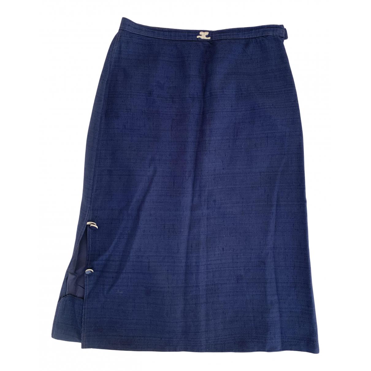 Courrèges N Blue Cotton skirt for Women 00 0-5