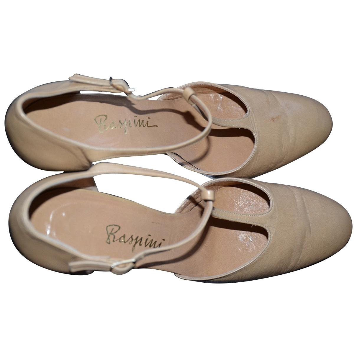 Giovanni Raspini \N Beige Leather Heels for Women 39 IT