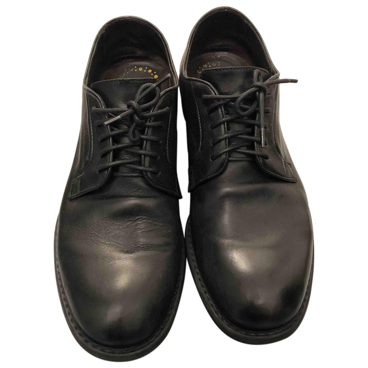 Doucals \N Schnuerschuhe in  Schwarz Leder