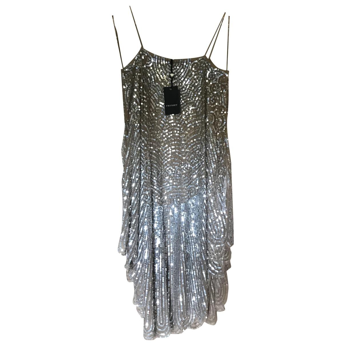 Twin Set \N Silver dress for Women 36 FR