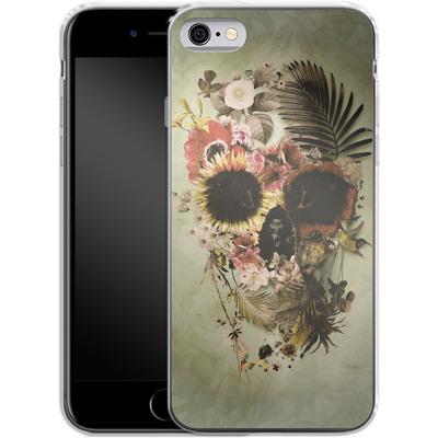 Apple iPhone 6s Silikon Handyhuelle - Garden Skull Light von Ali Gulec