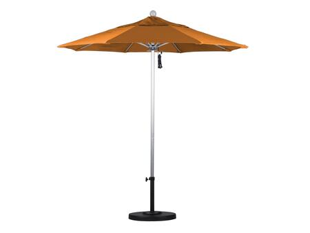 ALTO758002-F27 7.5' Venture Series Commercial Patio Umbrella With Silver Anodized Aluminum Pole Fiberglass Ribs Push Lift With Olefin Sunset