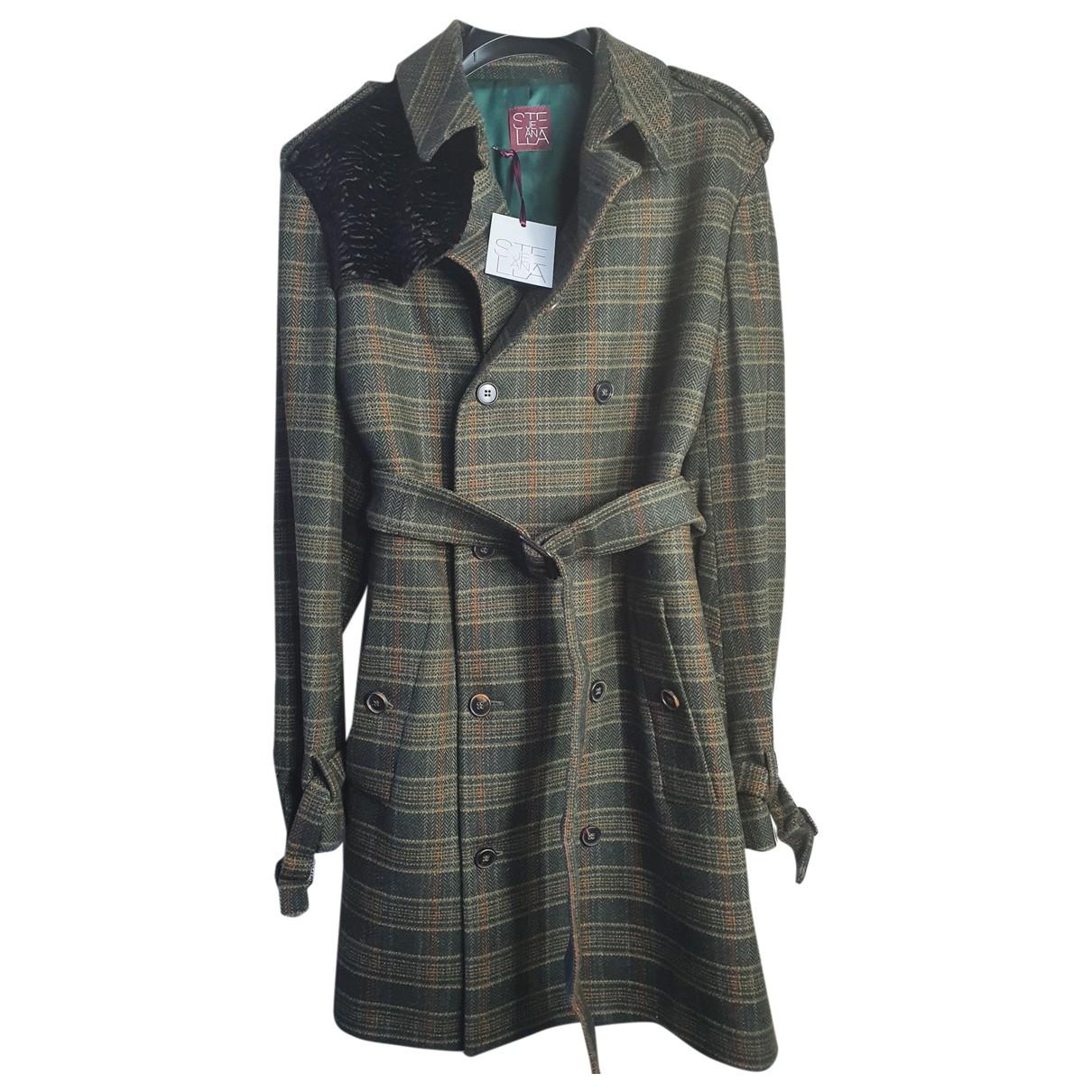 Stella Jean - Manteau   pour homme en laine - multicolore