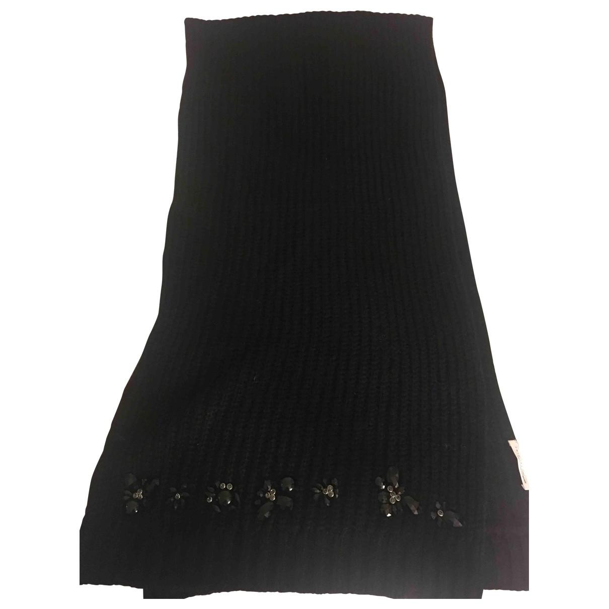 Twin Set \N Black Wool scarf for Women \N