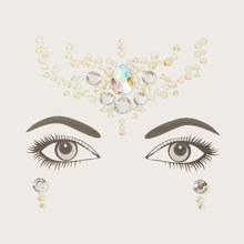 1 hoja pegatina con diamante de imitacion decoracion de halloween