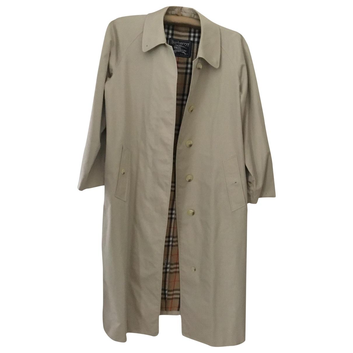 Burberry \N Beige Cotton coat for Women M International