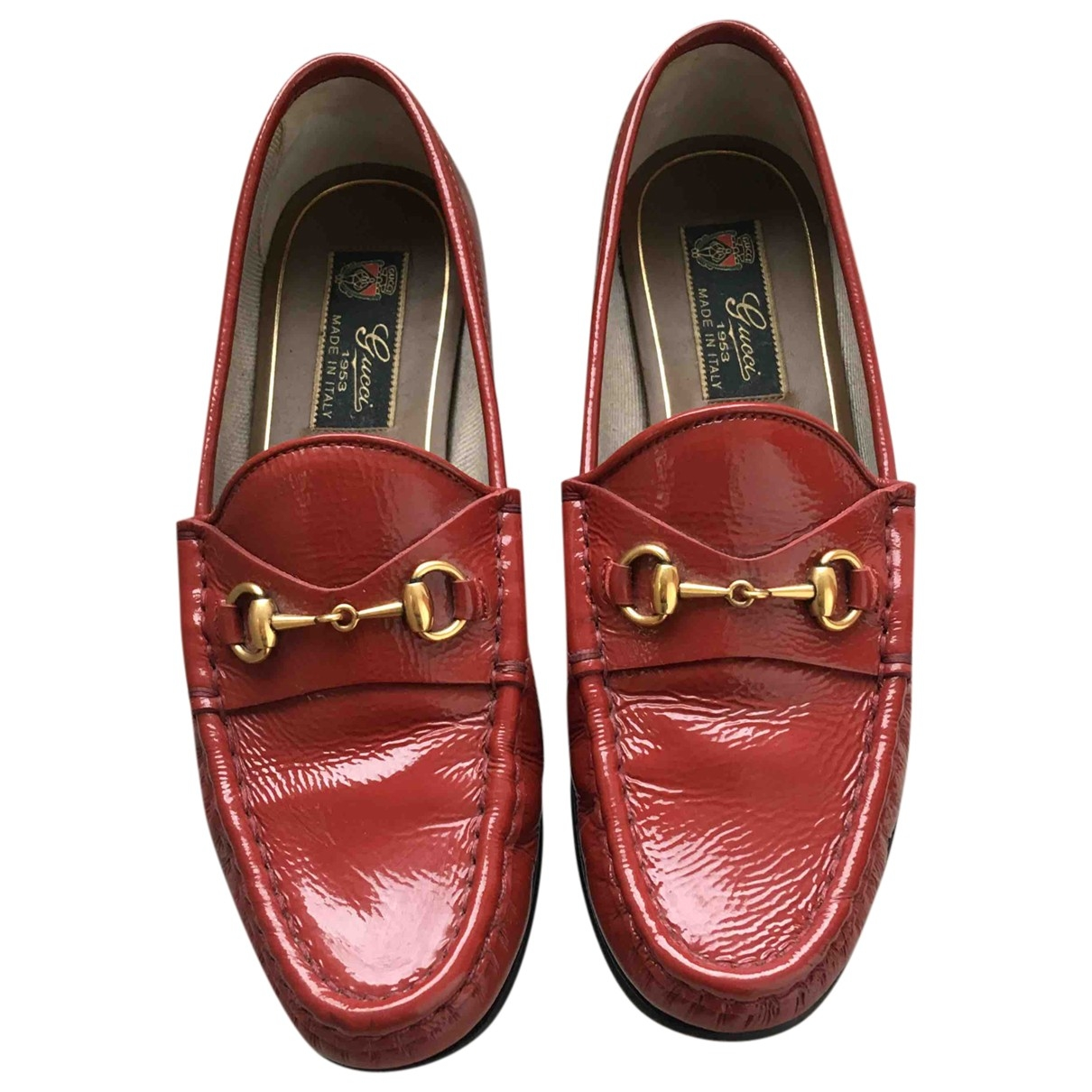Gucci \N Red Patent leather Flats for Women 36 EU