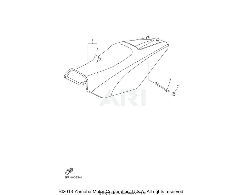 Yamaha OEM 8FA-24755-00-00 HOOK, SEAT