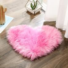 Kunstpelz Teppich mit Herzen Muster