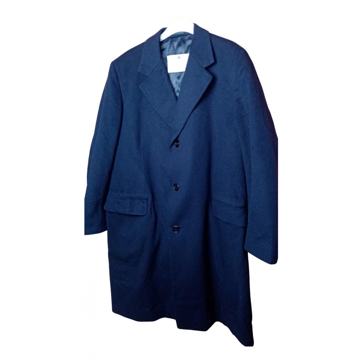 Aquascutum - Manteau   pour homme en laine - bleu