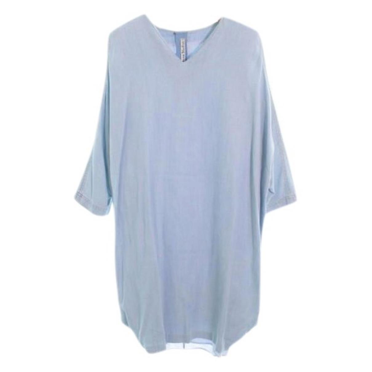 Acne Studios \N Kleid in  Blau Leder
