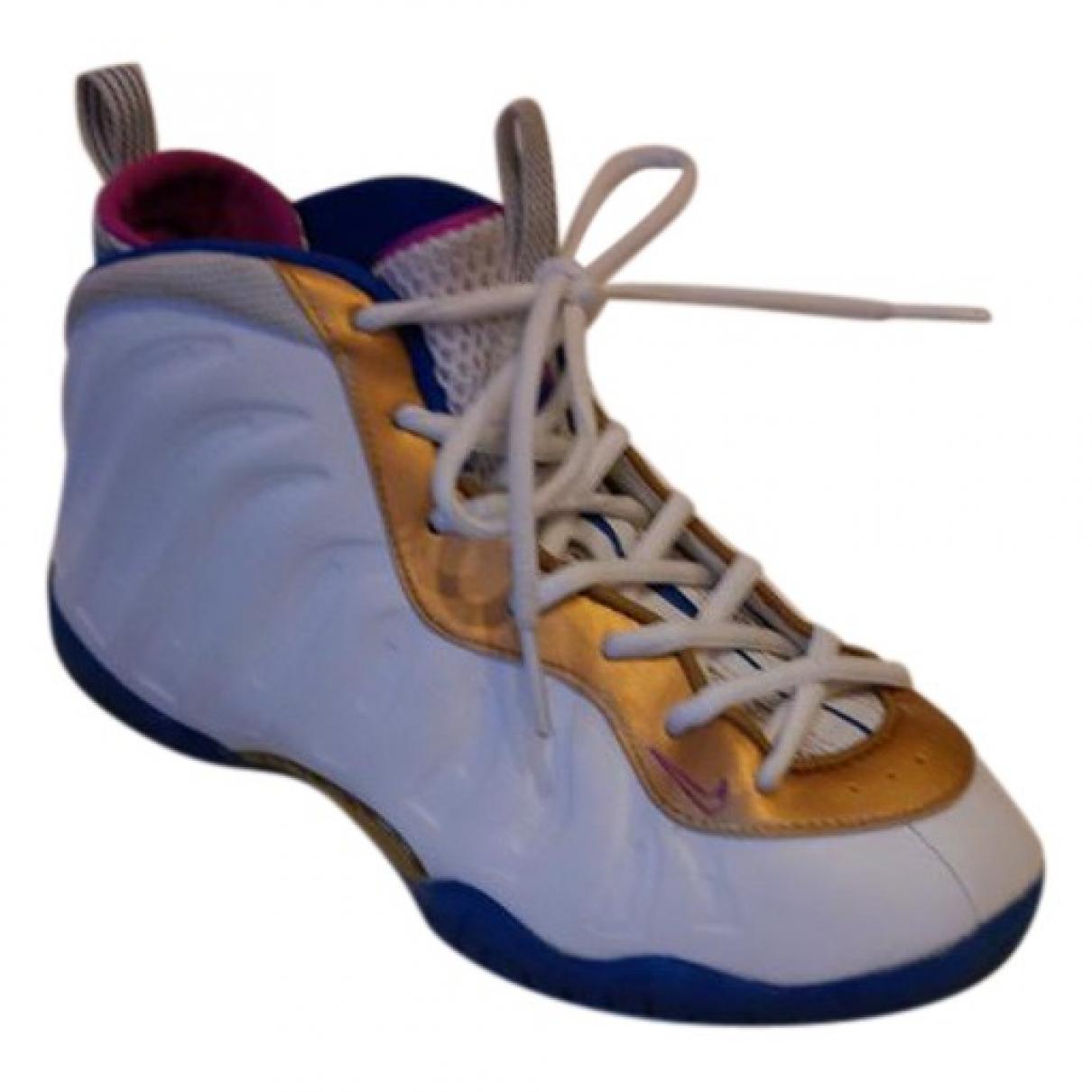 Nike - Baskets   pour enfant en caoutchouc - blanc