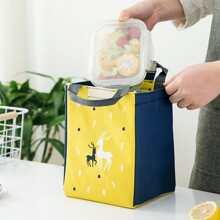 1 Stueck Essentasche mit Elch Muster