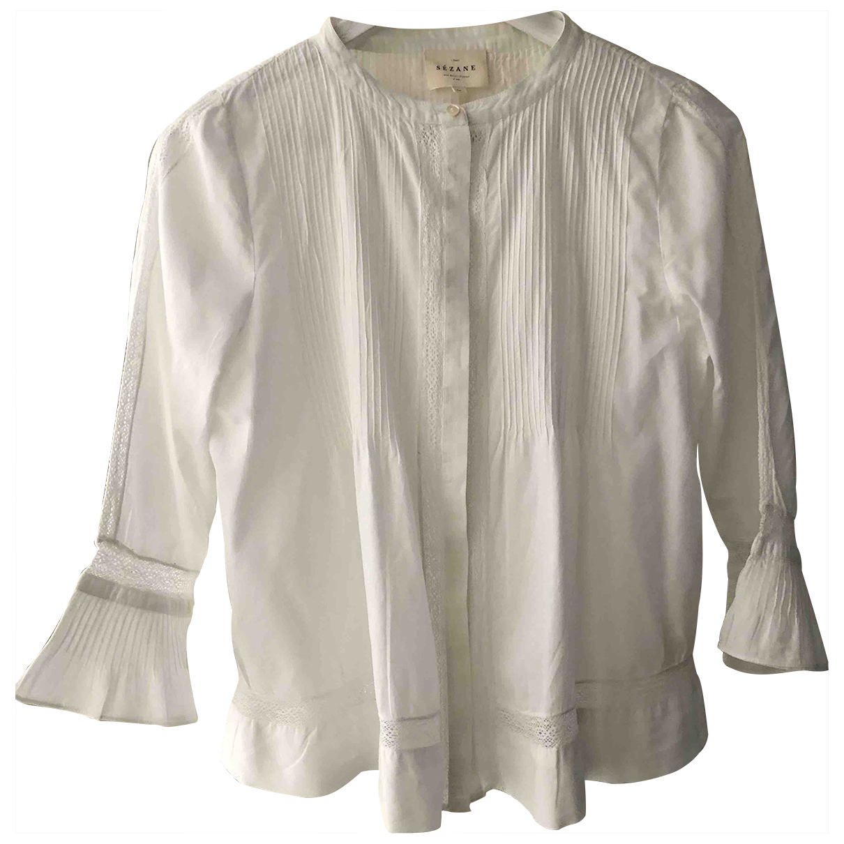 Sézane \N White Cotton  top for Women 36 FR