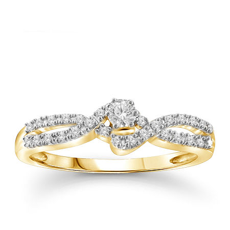 1/4 CT. T.W. Diamond 10K Yellow Gold Ring, 6 , No Color Family