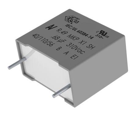 KEMET 47nF Polypropylene Capacitor PP 310 V ac, 800 V dc ±10% Tolerance Through Hole R49 Series (10)