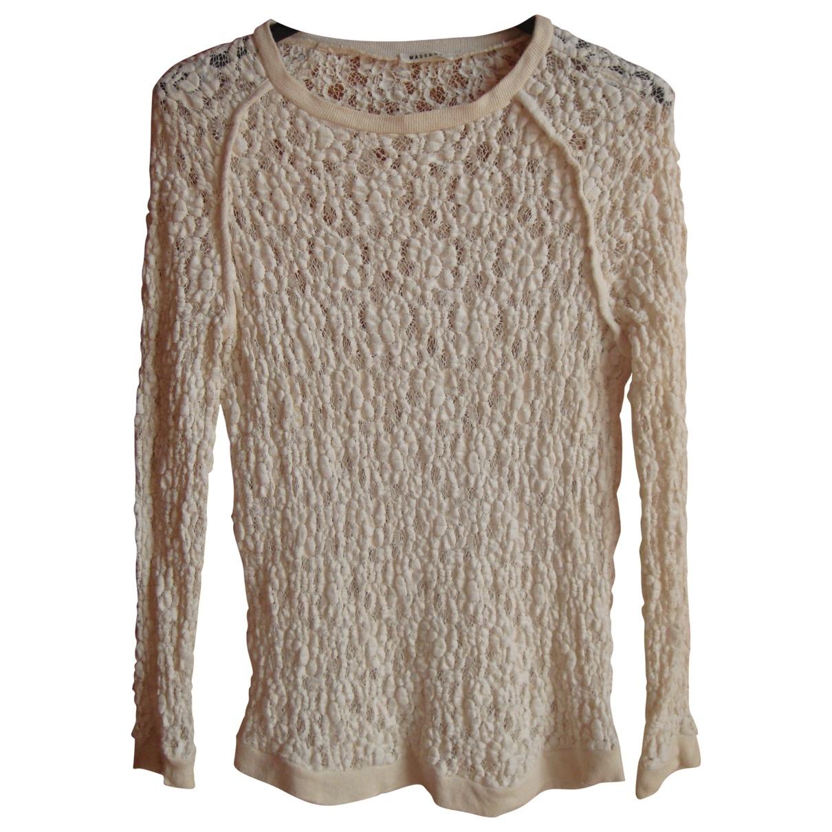 Masscob - Top   pour femme en coton - beige