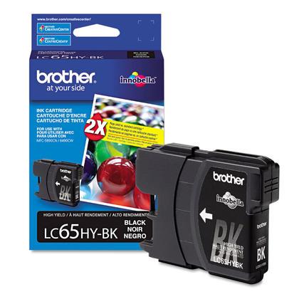 Brother LC65HYBK - LC65 Original Black Ink Cartridge (LC65BK), High Yield Version of LC61BK