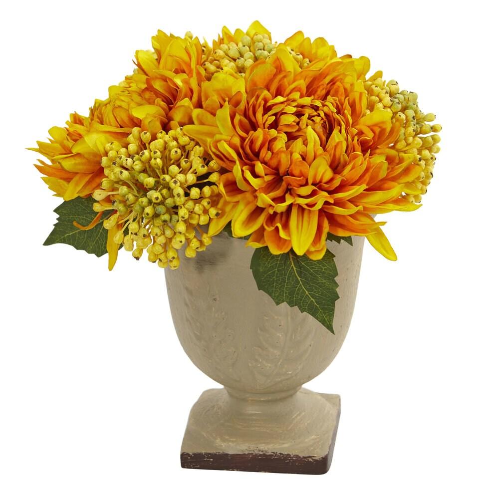 Mum Artificial Arrangement (Yellow)