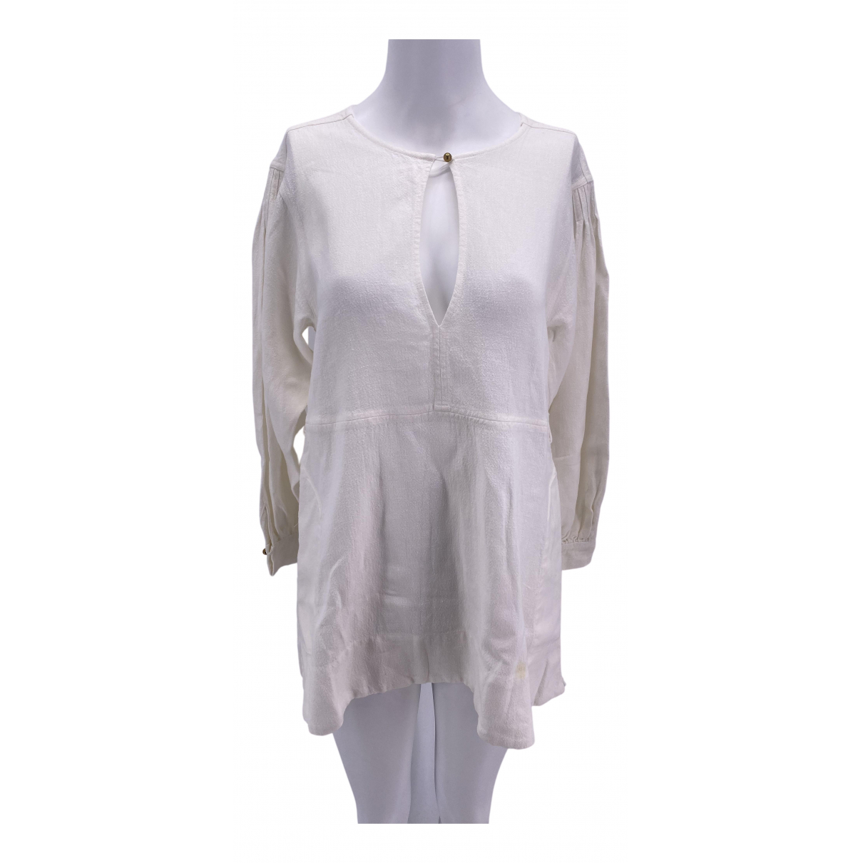 Le Kasha - Top   pour femme en lin - blanc