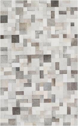 Outback OUT-1011 5' x 8' Rectangle Modern Rug in Ivory  Medium