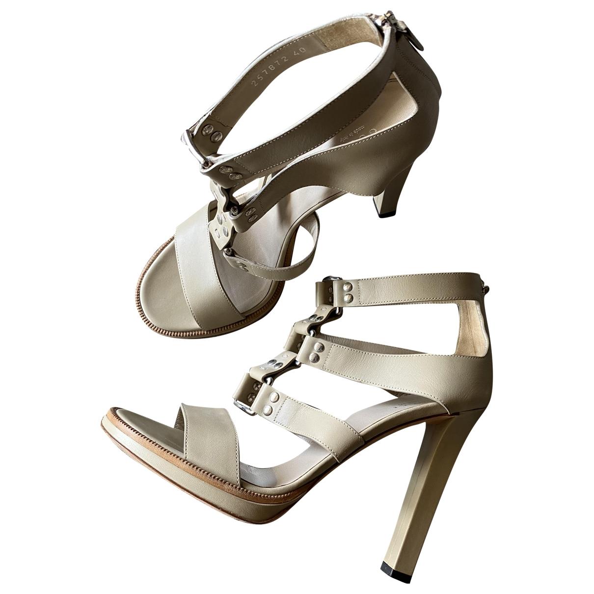 Sandalias romanas de Cuero Gucci