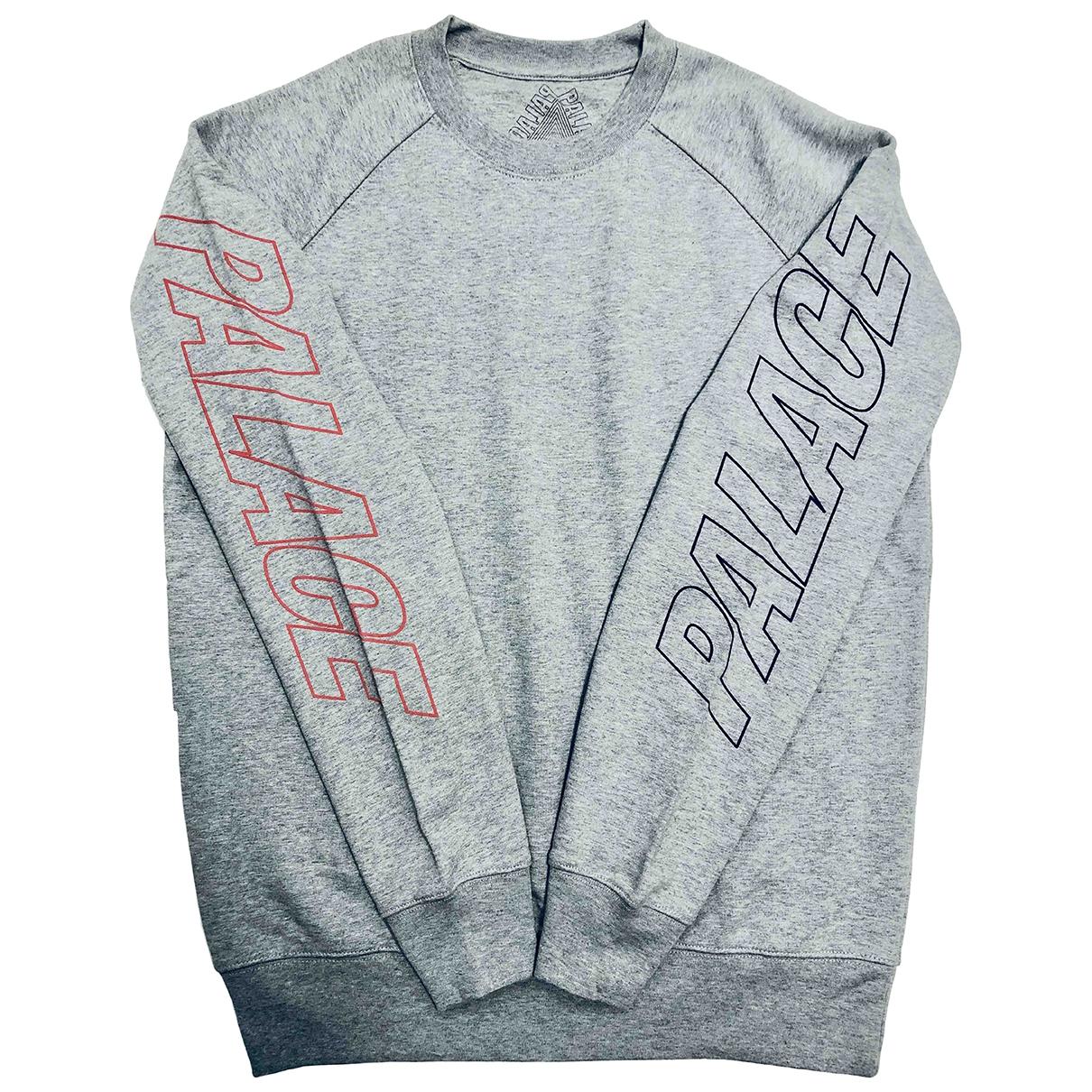 Palace \N Pullover.Westen.Sweatshirts  in  Grau Baumwolle