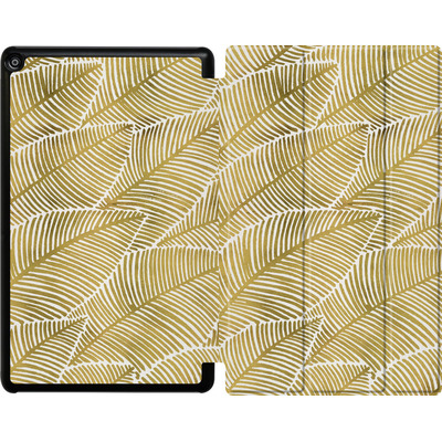 Amazon Fire HD 10 (2017) Tablet Smart Case - Tropical Leaves Gold von Cat Coquillette