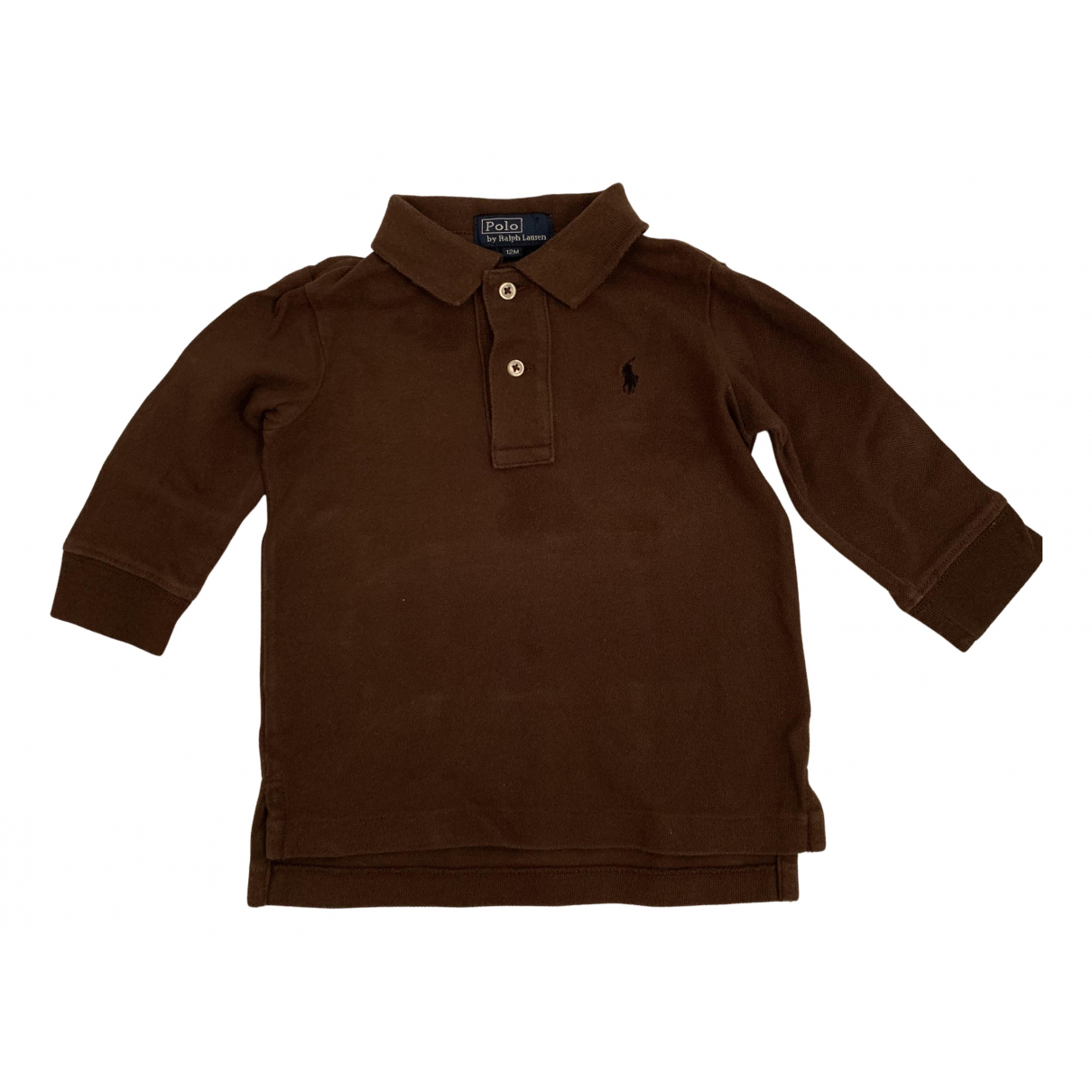 Polo Ralph Lauren - Top   pour enfant en coton - marron